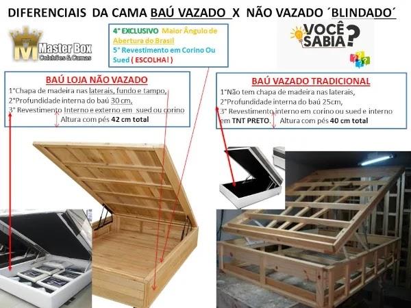 cama box bau estrutura madeira