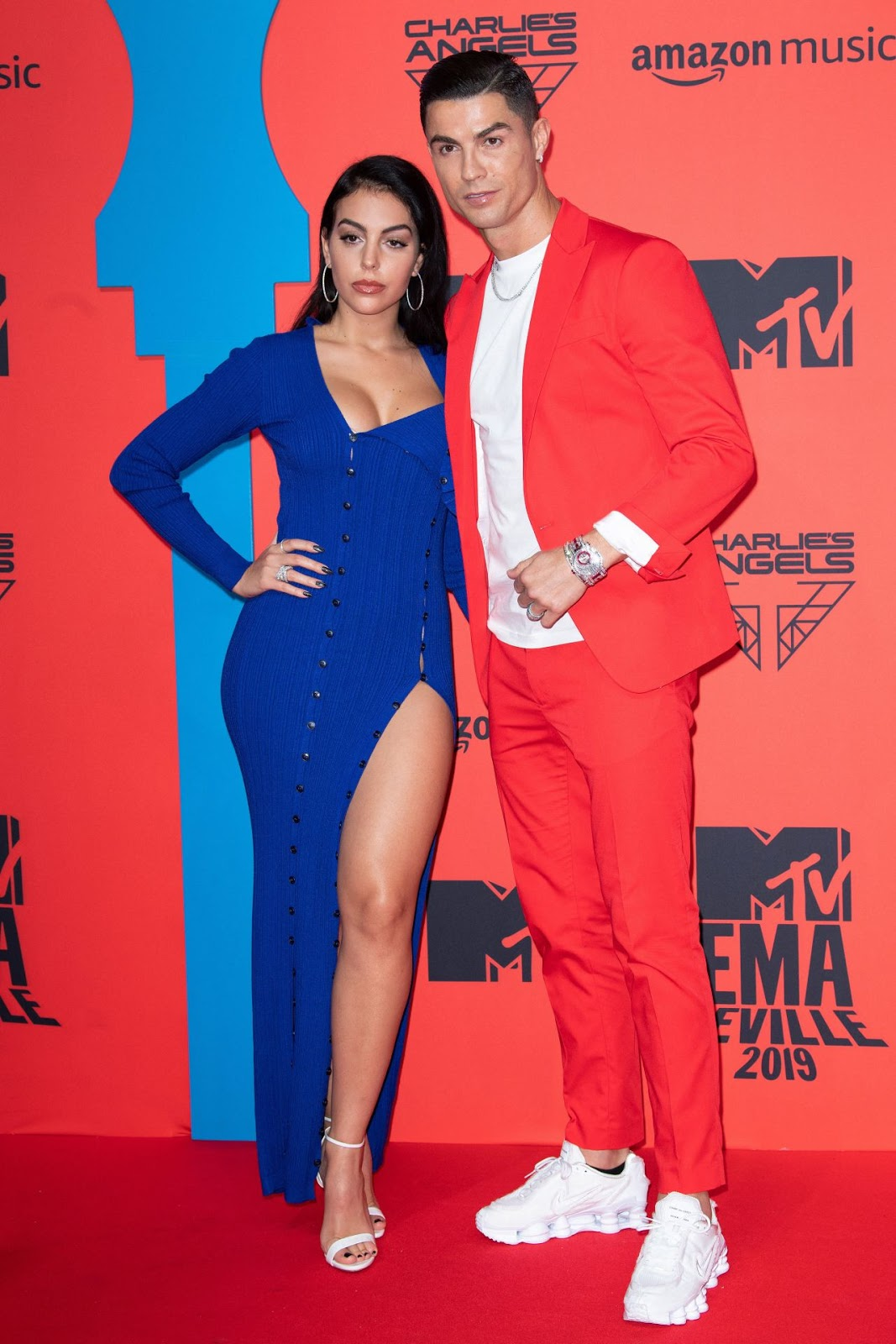 Cristiano Ronaldo and Georgina Rodriguez were a stunning couple at the MTV Europe Music Awards