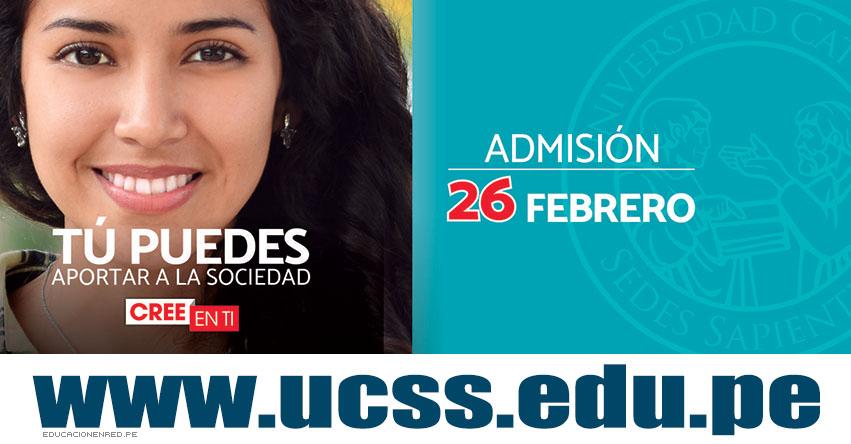 Resultados Admisión UCSS 2017-1 (26 Febrero) Ingresantes Examen Universidad Católica Sedes Sapientiae - www.ucss.edu.pe