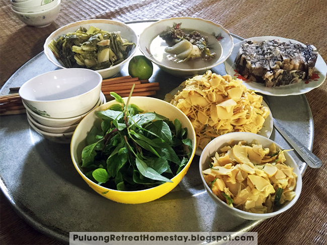 normal local meal look like this in Puluong National Park