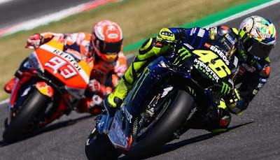 Penampilan Valentino Rossi di MotoGP San Marino Kurang Beringas