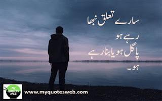 Sary taluk nibha rahy ho   Urdu Poetry