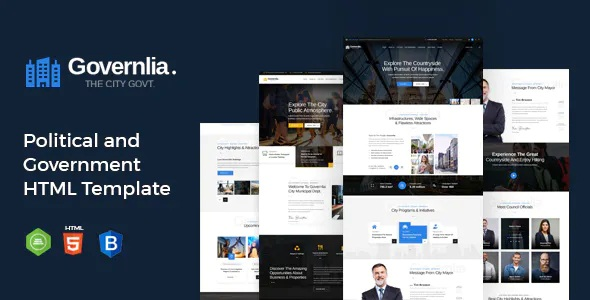 Best Political and Government Bootstrap Template