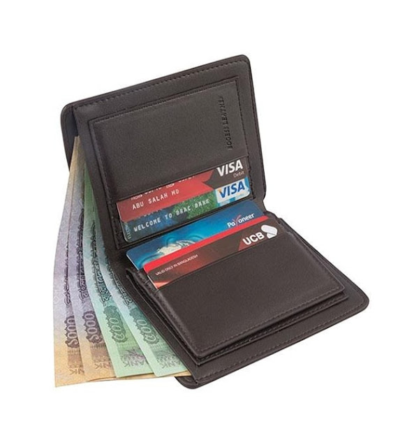 Artificial Leather Wallet And Card Holder For Men