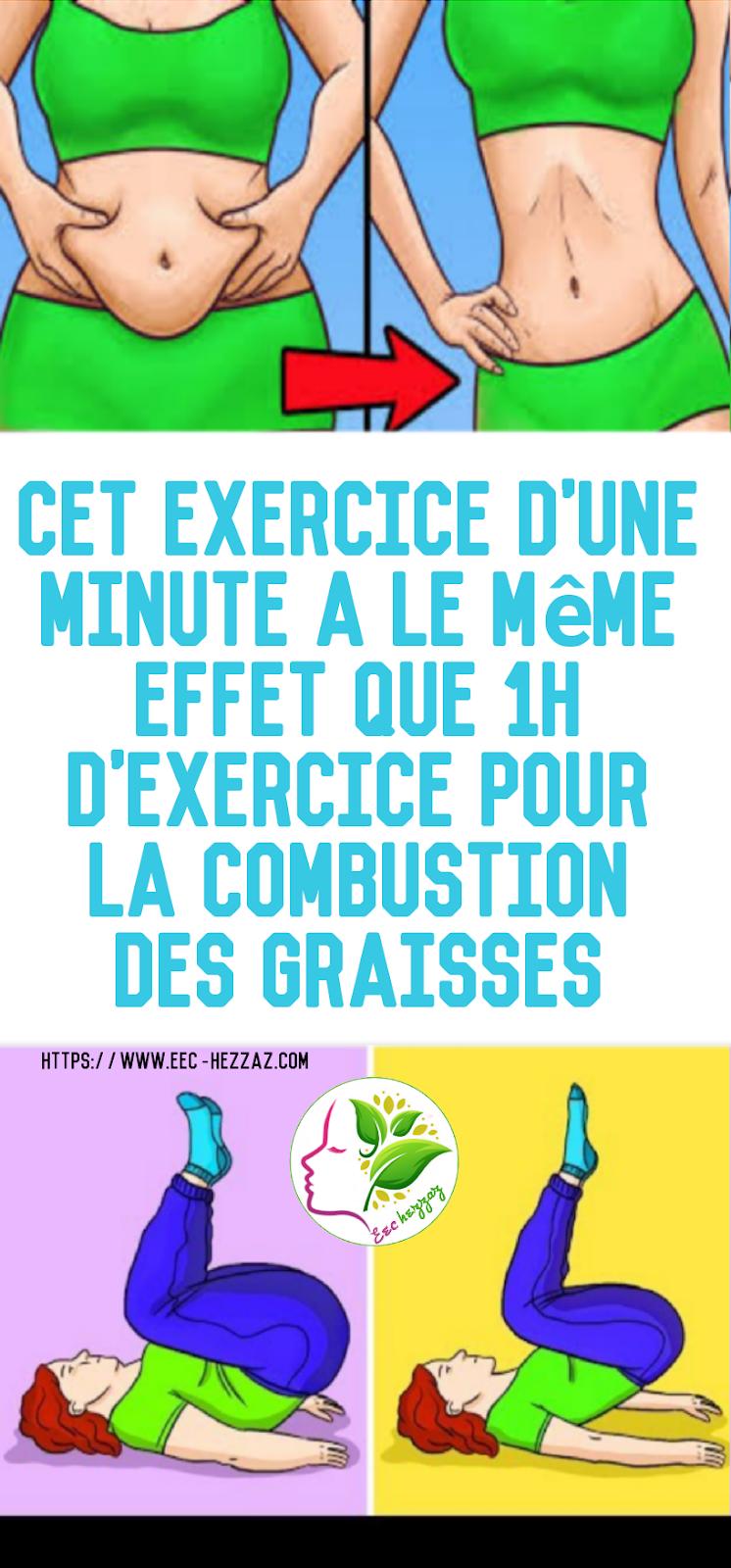 Cet exercice d'une minute a le même effet que 1h d'exercice pour la combustion des graisses