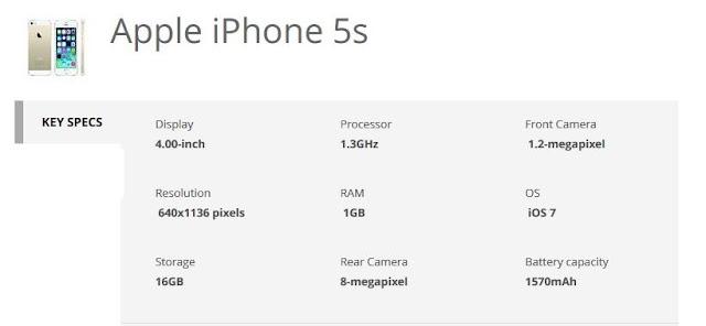 iphone 5s-specs-techfoogle.com