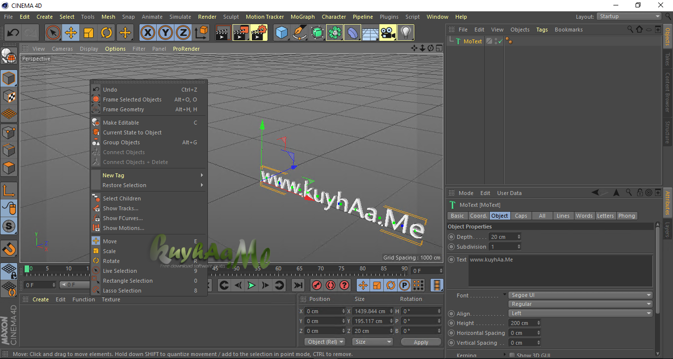 Maxon CINEMA 4D Studio terbaru