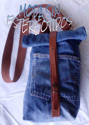Bolso mochila vaquera; denim backpack