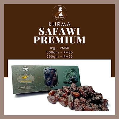 Senarai Harga Kurma Safawi Premium mengikut berat
