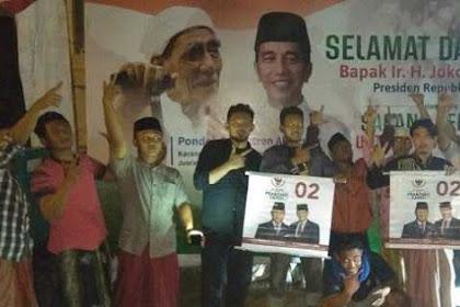 Didatangi Jokowi, Santri Mbah Moen Malah Kampanye Prabowo-Sandi