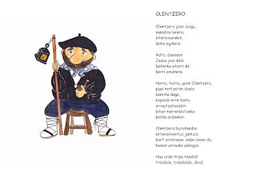 Dibujos De Navidad Del Olentzero.Actividades Para Educacion Infantil Las Navidades En El