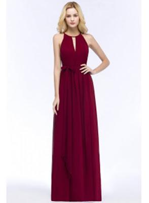 Cheap Burgundy Chiffon Bridesmaid Dresses