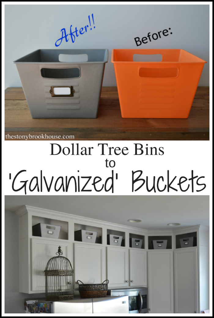 Dollar Tree Bins to Galvanized Buckets