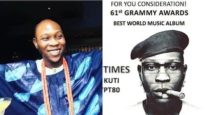 Fela Anikulapo Kuti's son Seun nominated for Grammy Awards
