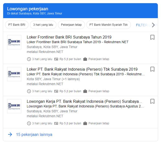 Cepat - Lowongan Kerja BANK BRI Surabaya 2020 Terbaru ...