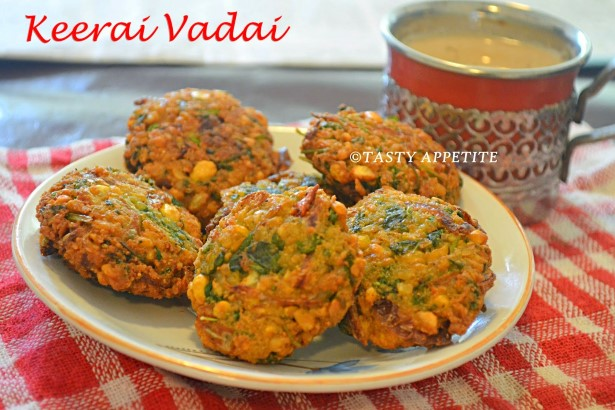 spinach vada
