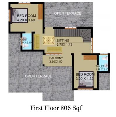 4 bhk house plans kerala, 4 bhk kerala villa plan images