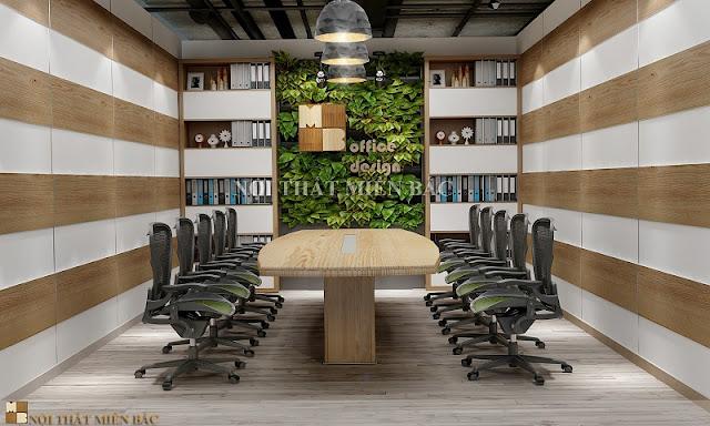 Thiết kế nội thất phòng họp không gian xanh không chỉ mang lại sức sống cho không gian mà nó còn mang đến cho căn phòng của bạn một phong cách độc đáo, ấn tượng