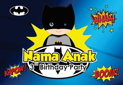 Contoh Desain Ulang Tahun Tema Batman