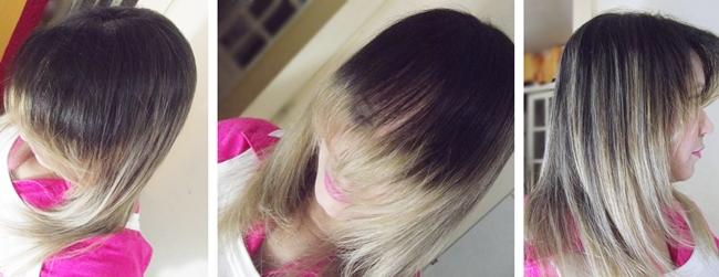 Clarear pontas do cabelo
