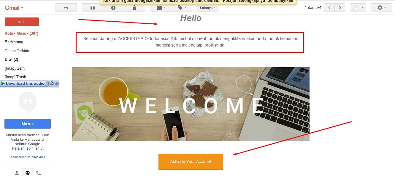 email konfirmasi verifikasi accestrade indonesia