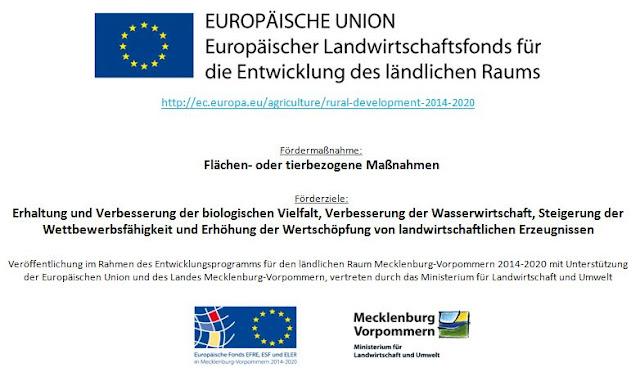 Eurpäische Union - Landwirtschaftsfonds - Förderung Flächen- oder tierbezogene Maßnahmen