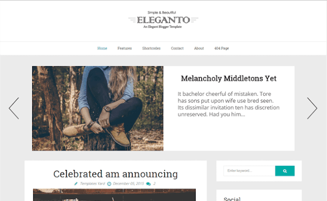 Eleganto Blogger Template