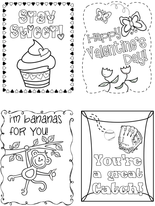 This is a graphic of Influential Printable Valentines Day Cards to Color