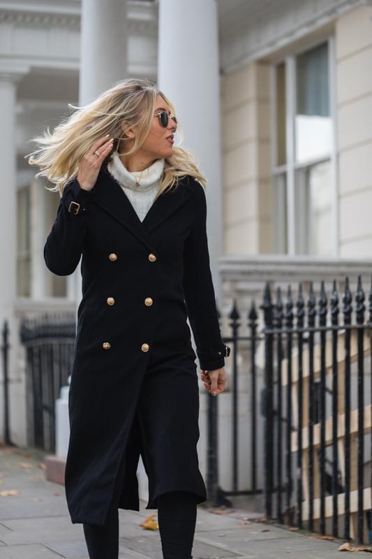 missguided black coat