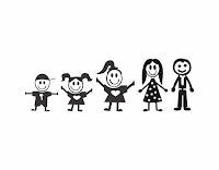 família feliz vetor