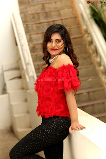 Priya Augustin in Red Top cute beauty hq .xyz Exclusive Pics 002