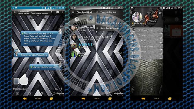 BBM Mod Tema Metal New Version Terbaru Versi 2.13.1.14