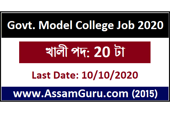 Govt. Model College, Deithor, Karbi Anglong Recruitment 2020