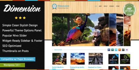 Free Dimension � Wonderful Magazine WordPress Theme