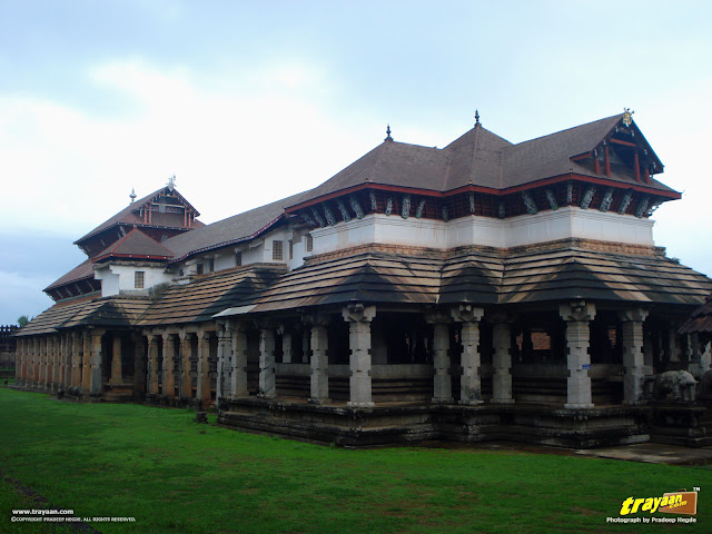 Thousand Pillared Jain Temple in Moodabidri, near Mangalore, Karnataka, India - called as Tribhuvana Tilaka Chudamani basadi or Chandranatha basadi, also known as Saavira Kambada Basadi