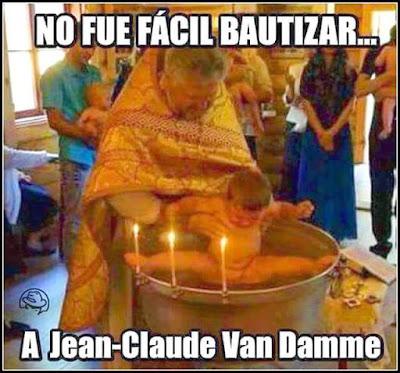No fue fácil bautizar a Jean Claude Van Damme