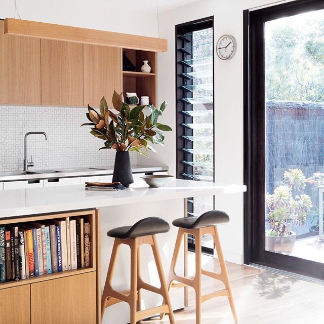 Down a leafy little Northcote street, in an idyllic spot right on Merri Creek, sits architect Vicki McLean's charming family home – a triumph of efficient, thoroughly considered design.