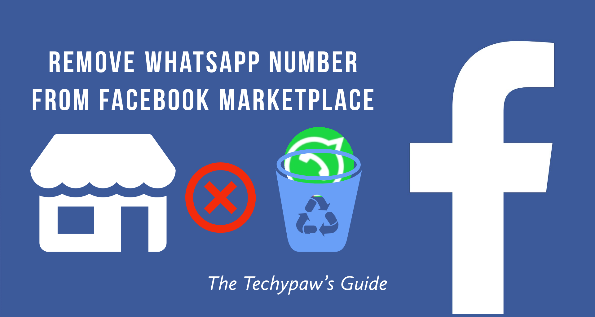How to remove WhatsApp number from Facebook Marketplace?
