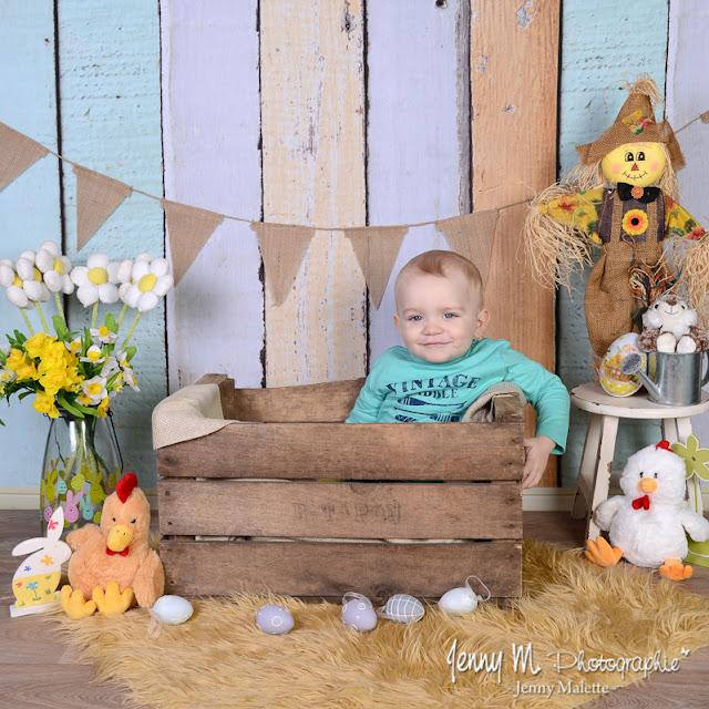 shooting photos en studio thème de Pâques pour le printemps en vendée