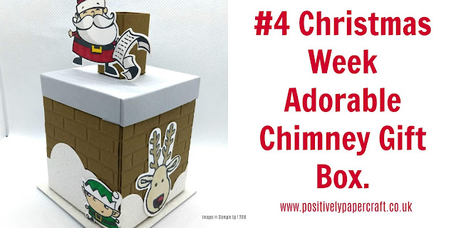 How to make a christmas gift box, #stampinupuk, #stampinupdemonstrator,