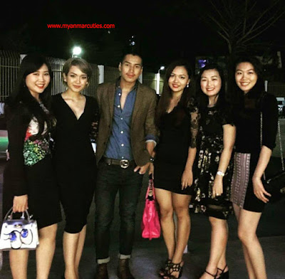 Aung Ye Lin With Her Girl Friend 2016