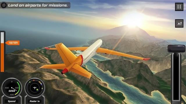 لعبة محاكاة الطيران للاندرويد