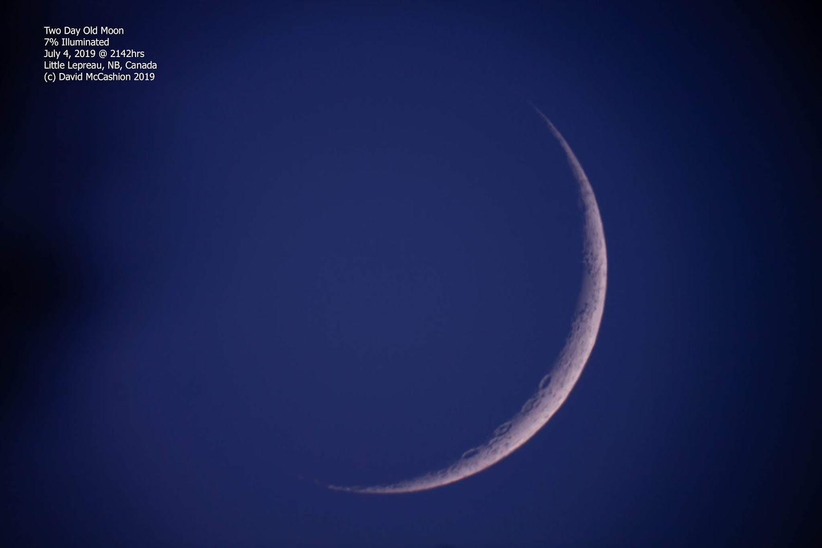 Astronomy Observing Reports: YOUNG MOON