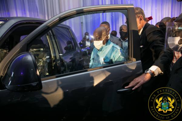 President Akufo-Addo Unveils First Assembled VW Vehicles In Ghana
