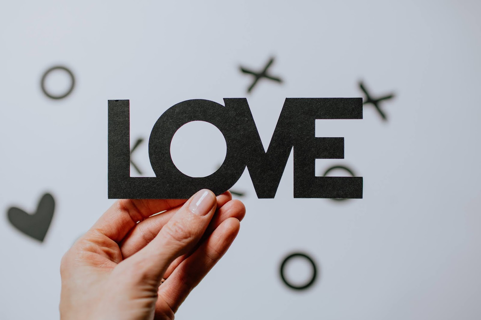 Love freestanding letters, love images