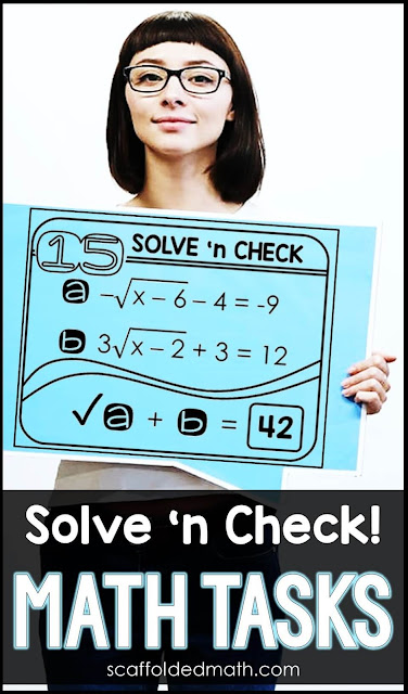 Solve 'n Check math tasks are a new way for students to work independently on their math problems, checking their work as they go.If you need a way for your students to independently practice the math concepts they are learning, self-checking solve 'n check math tasks allow students to work on their own, freeing up your time to work more closely with students who need more help.