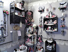 A Pink and Black Halloween in the Powder Room