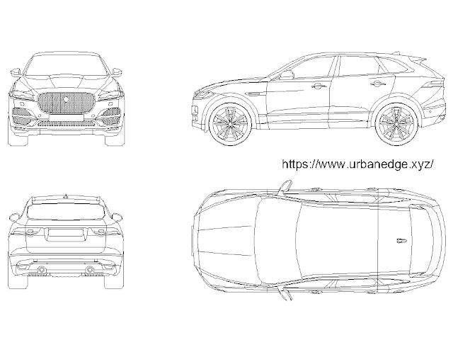 Car dwg cad block free download - Jaguar F-Pace