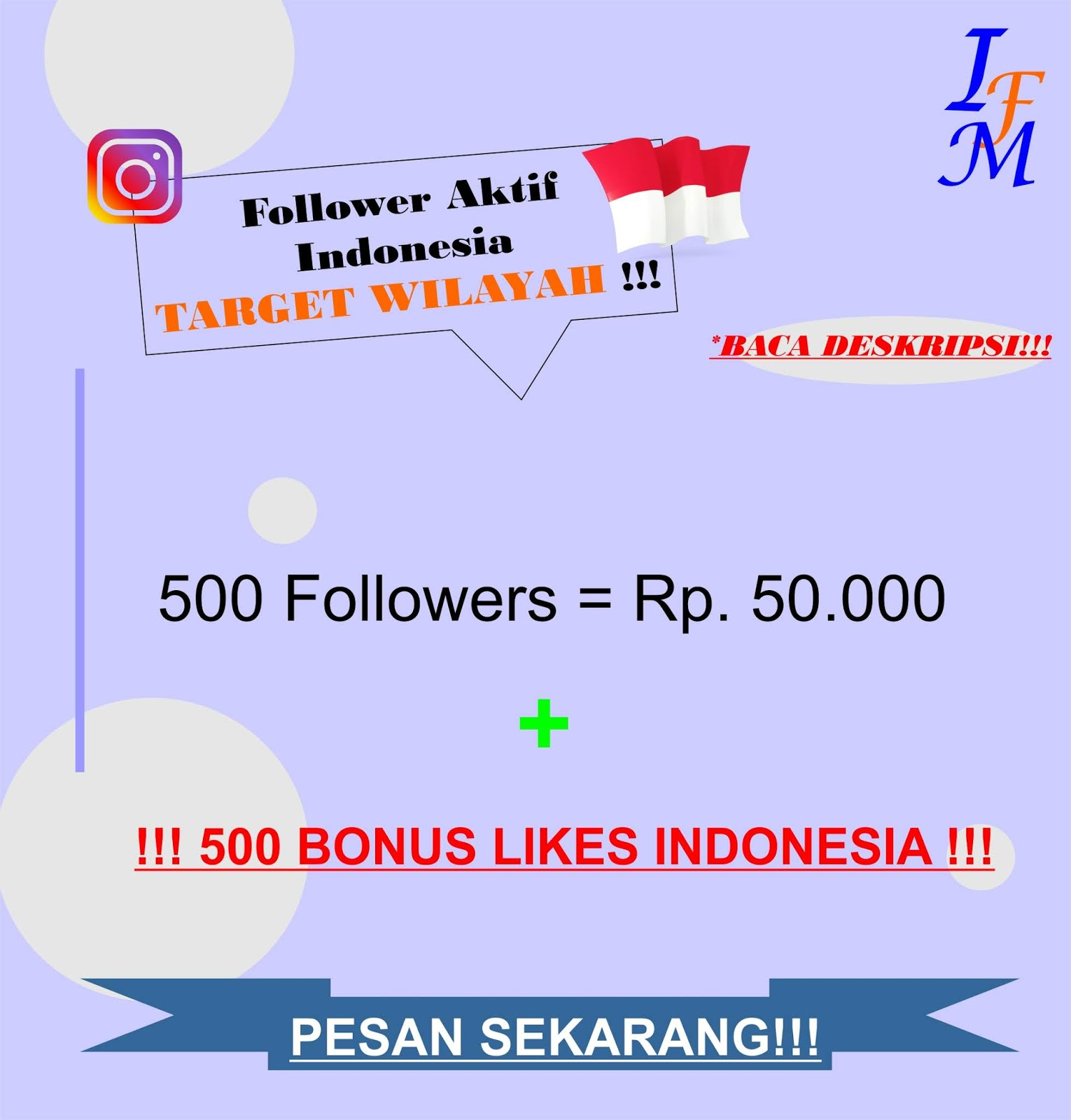 Jasa Tambah 500 Follower Akun Instagram Aktif Indonesia Target Wilayah Murah