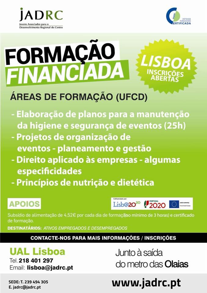Formação financiada em Lisboa
